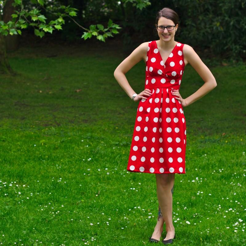 Retro-Punkte-Kleid